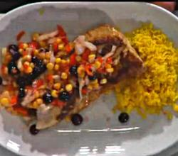 Rockfish With Blueberry Salsa