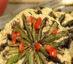 CFJC Midday - Rosemary Focaccia with Asparagus Sunburst - Made With Love