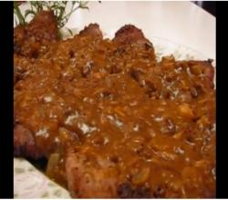 Betty's Pounded Round Steak with Onion Mushroom Gravy