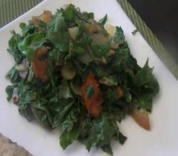 Russian Kale (Healthy Vegetarian Food): Spiced Russian Kale