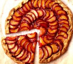 Rustic Plum and Nectarine Tart
