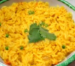 Saffron Rice with Peas
