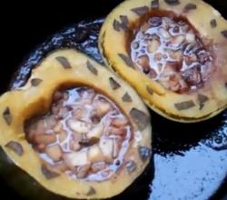 Stuffed Squash with Sage and Apple