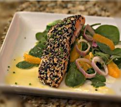 Asian Recipes: How to make Ginger Flank Steak and Black & White Sesame Salmon