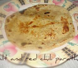 Salt And Red Chili Powder Paratha