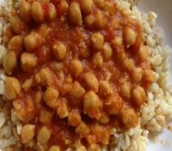 Saucy Chickpeas from the Pressure Cooker