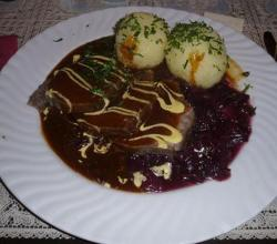 Sauerbraten With Sauce And Marinade