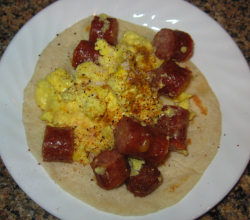 Sausage And Egg Wrap