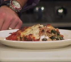 Healthy Sausage Mushroom and Spinach Lasagna