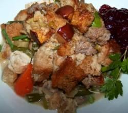 Sausage Stuffing Topped Chicken Casserole
