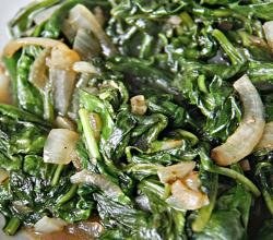 Sauteed Spinach and Onions