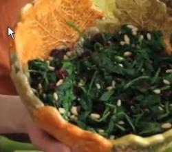 Sauteed Spinach with Pine Nuts
