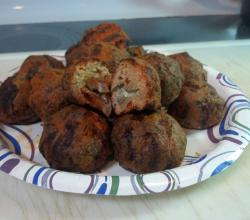 Buffalo Meatballs Stuffed with Blue Cheese