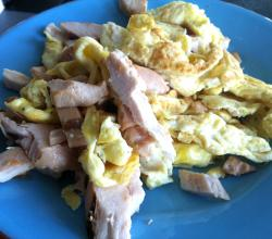 Scrambled Eggs With Chicken
