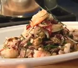 Seafood Salad with Chickpeas and Olive Pesto (Insalata Di Mare) : Mario Batali