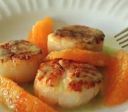 Seared Scallops With Orange Supremes And Jalapeno Vinaigrette