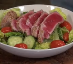 Seared Tuna Crusted with Wasabi and Sesame Seeds