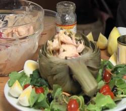 Shrimp Remoulade Stuffed Artichoke