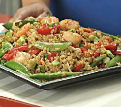 Shrimp Fried Rice with Brown Rice Asian