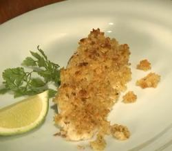 Fillet-O-Fish with Lime and Ginger Crumble