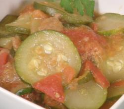 Simple  Zucchini and Tomatoes