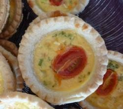 Smoked Salmon and Cream Cheese Mini Quiches