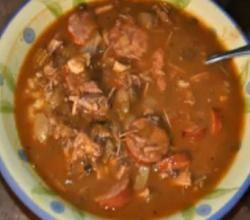 Smoked Turkey, Andouille Sausage & Shrimp Gumbo