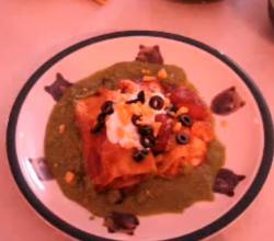 Sour Cream Chicken Enchiladas With Cilantro Pepper Sauce