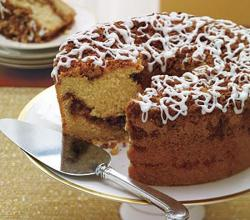 Sour Cream Coffee Cake With Cinnamon