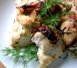 Tangy Garlic And Sour Cream Marinated Chicken