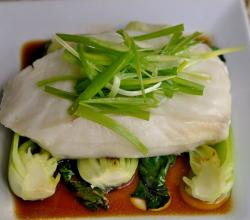 Sous Vide Chilean Sea Bass with Baby Bok Choi