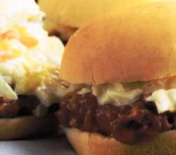 Southern Pork Barbecue Burgers with Coleslaw
