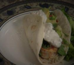 Southwest Shrimp Tacos with Citrus Sour Cream Sauce- by Rockin Robin