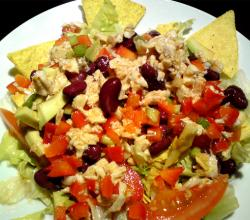 Southwestern Chicken Salad With Chipotle Caesar Dressing