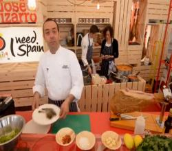 José Pizarro makes Prawns with chopped garlic and Iberian Ham