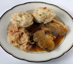 Spareribs And Sauerkraut  With Dumplings