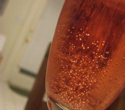 Sparkling Wine with Creme De Peche