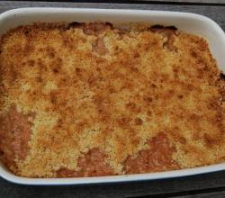 Spiced Plum Crumble