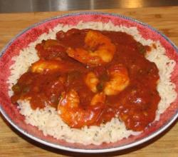 Spiced Prawns with Tomatoes