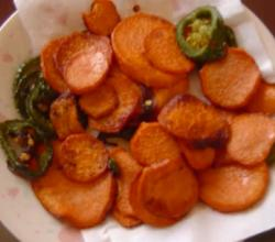 Fried Jalapeno and Yams