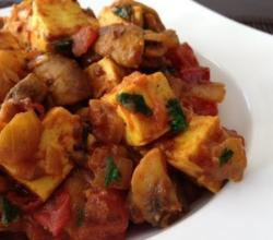 Spicy Mushroom Paneer Masala (Healthy, Quick Vegetarian Dish)