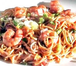 Spicy Shrimp Noodle with Hoisin Sauce