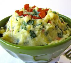 Spinach Smashed Potatoes