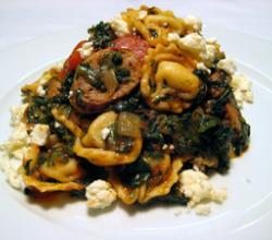 Herb Tortellini with Spinach, Turkey Sausage & Feta