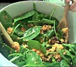 Spinach Salad with Orange Ginger Sauce