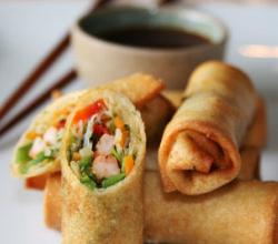 Crab, Prawn & Ginger Spring Rolls