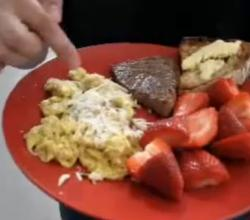 Seared Steak And Scrambled Eggs Breakfast