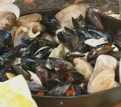 Steamed Clams and Mussels on the Grill