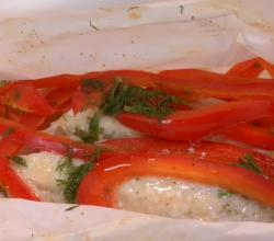Steamed Haddock with Spring Veggies