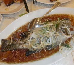 Steamed Sea Bass, Chinese Style